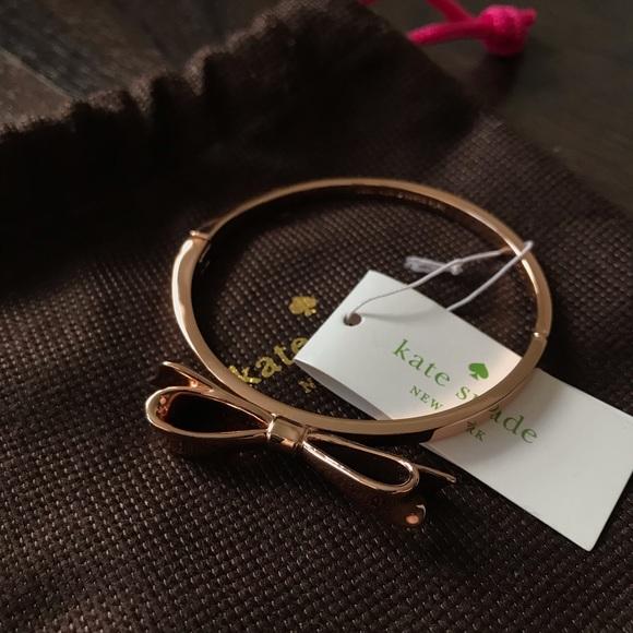 BRAND NEW Kate Spade Rose Gold Bow Bangle/Bracelet